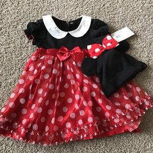 (NWT) Disney Minnie Mouse costume sz 18-24 mo